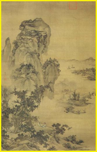 Chinese landscape paintings and posters for Dynasty mural works