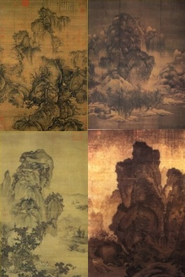 Chinese landscape painting posters collection
