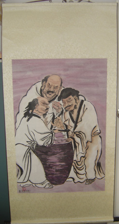 three vinegar tasters in robes
